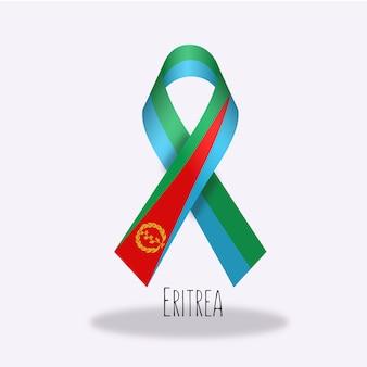 Disegno del nastro della bandiera della eritrea
