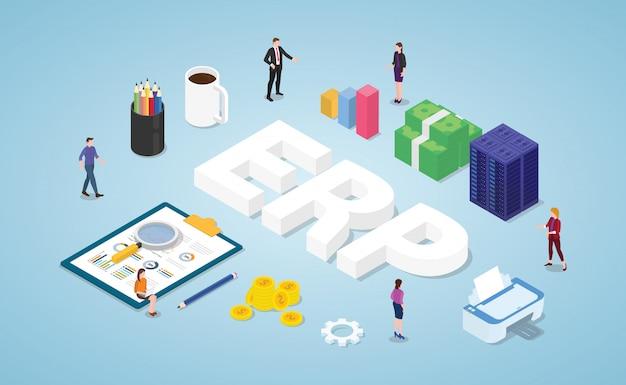 팀 직원 및 자산 회사와의 erp 엔터프라이즈 자원 계획