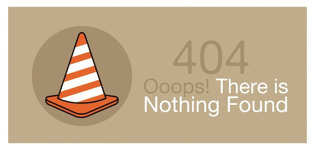 Error 404 banner, vector illustration