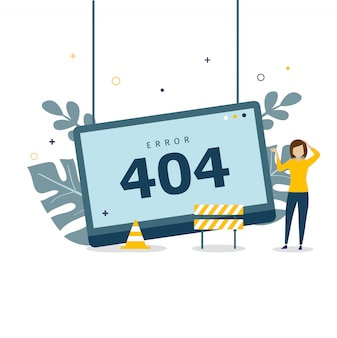 Error 404 concept design for landing page