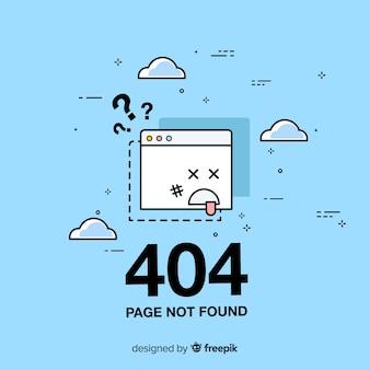Концепция ошибки 404 для целевой страницы Premium векторы
