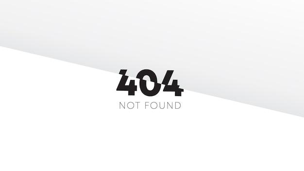 웹 페이지 디자인 벡터 일러스트 레이 션에 대 한 오류 404 개념