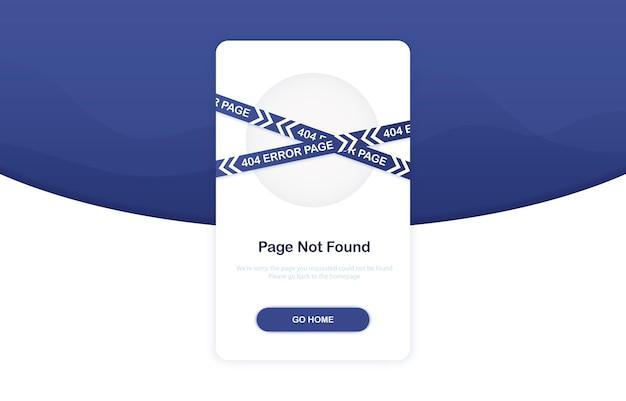Error 404 concept for landing page in flat design Premium Vector