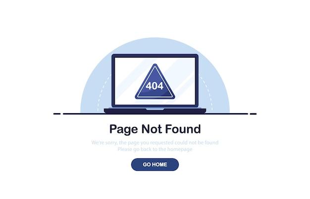 Error 404 concept for website template in flat design