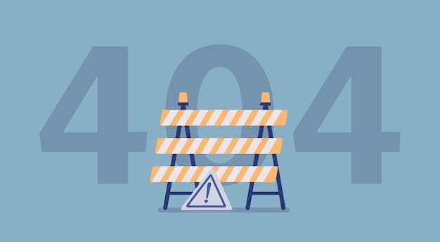 Error 404, not found page message