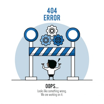 Ошибка 404 инфографика на белом фоне Premium векторы