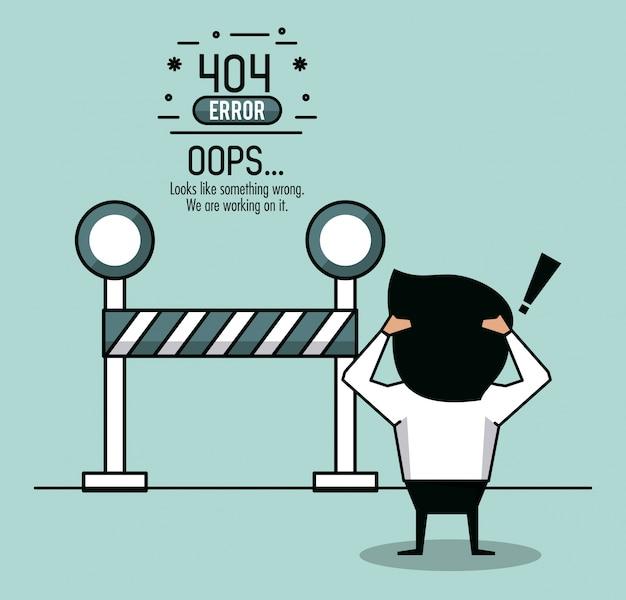 Ошибка 404 инфографика на белом фоне