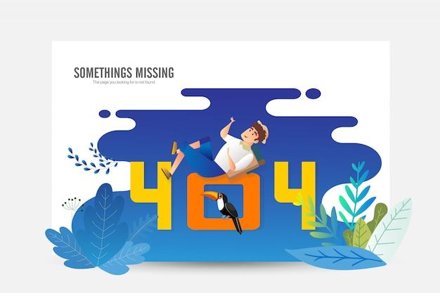 Error 404 lading page