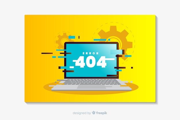Error 404 landing flat design