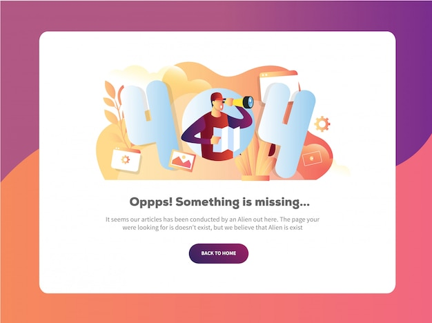 Error 404 landing page see nothing