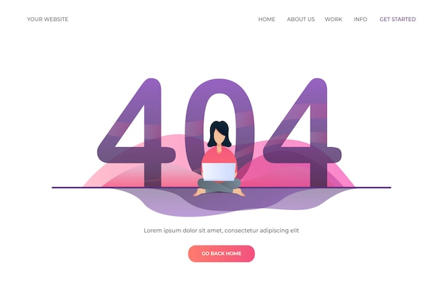 Error 404 for landing page