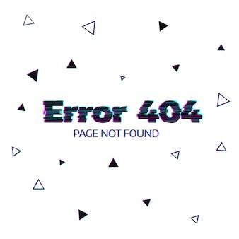 Error 404 messsage