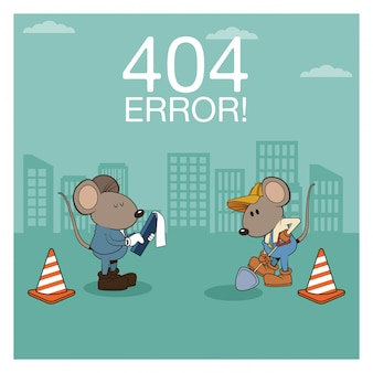 Error 404 nothing found banner