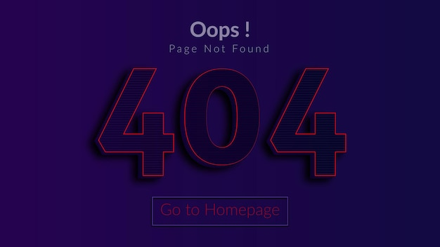 Error 404 page not found concept for web page missing