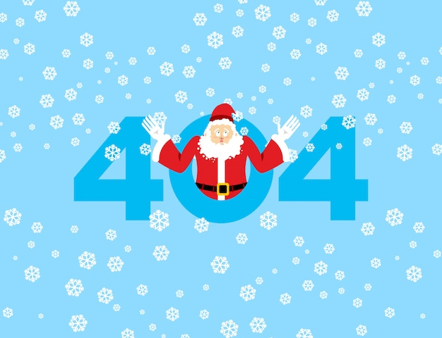 Error 404, page not found for website with santa claus