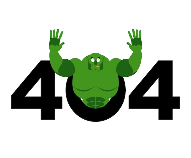 Error 404, page not found for website with troll Premium Vector