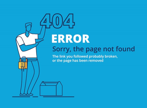 Error 404 page template