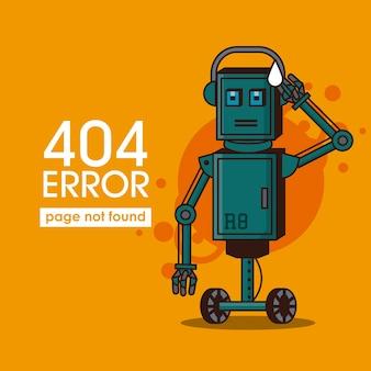 Error 404 robot style