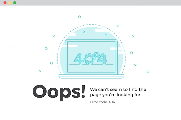Error 404 unavailable web page. file not found concept