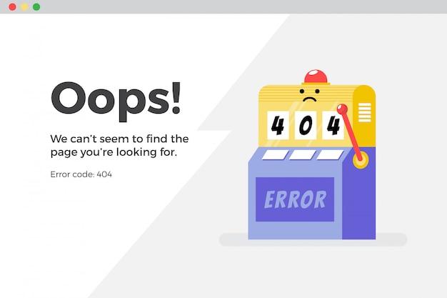 404 오류 웹 페이지를 사용할 수 없습니다. 파일을 찾을 수 없음 개념