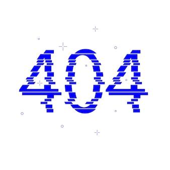 오류 404 웹 페이지 템플릿 페이지를 찾을 수 없습니다. 페이지 404가 조각으로 나뉩니다.