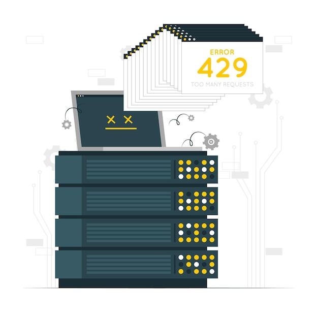 Error 429 concept illustration