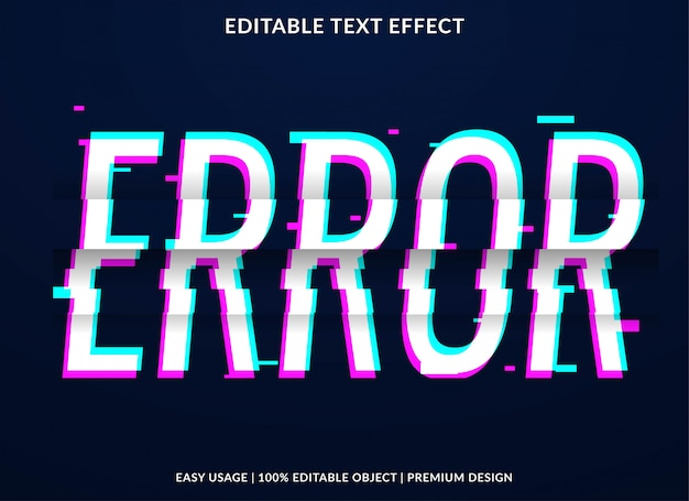 Error glitch text effect