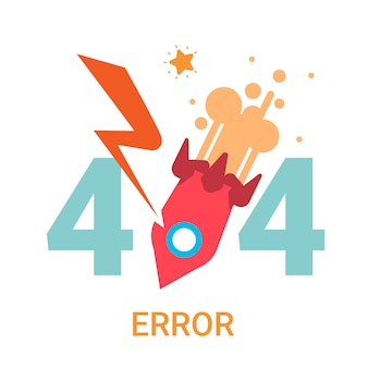 Error icon 404 not found broken message banner