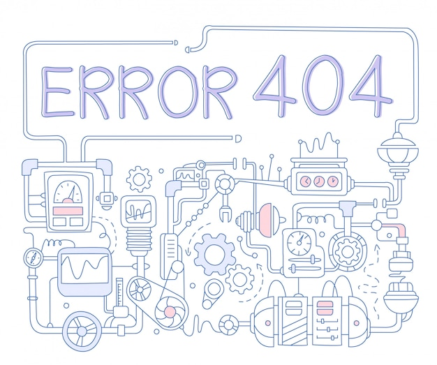 Error infographics. illustration