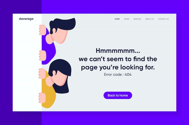 Error landing page template