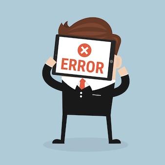 Сообщение об ошибке на планшете