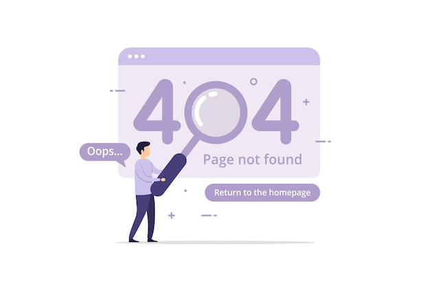 Error page not found landing page template