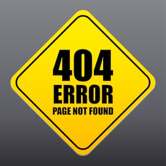 Error page not found sign vector