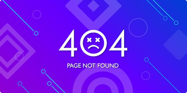 Error page not found system updates with geometric shape background