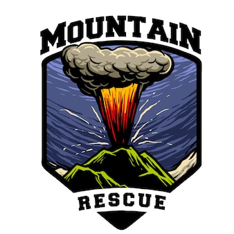 Erupted mountain rescue