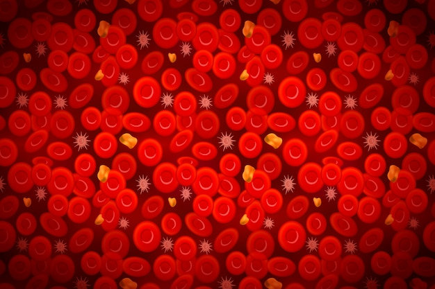 白血球とコレステロール、血液組成の背景を持つ赤血球