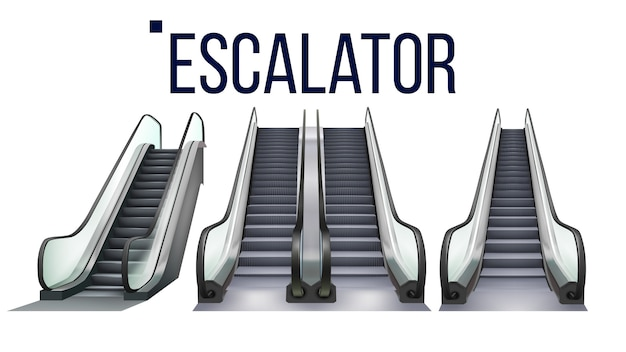Escalator stairway electronic equipment set