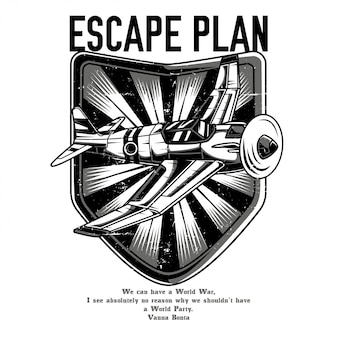 Escape plan black and white