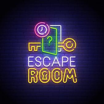 Escape room neon sign