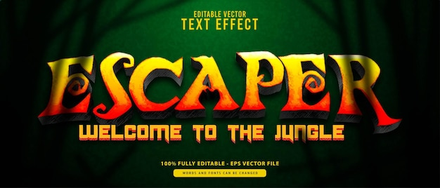 Escaper, vintage grunge gold modern  editable text effect. suitable for cinematic, movie title
