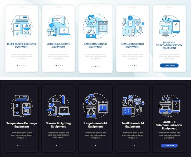 개념이있는 모바일 앱 페이지 화면을 온 보딩하는 escrap 유형