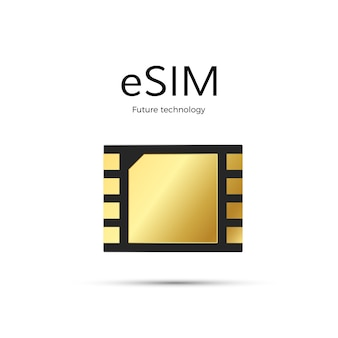Esim technology. sim card icon.