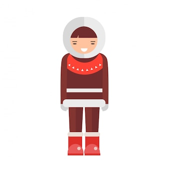 Eskimo vector illustration.