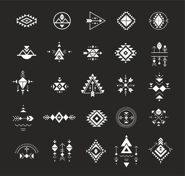 難解な錬金術の神聖幾何学部族とアステカの神聖幾何学神秘的な形のシンボル