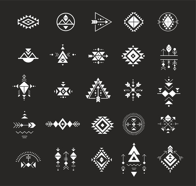 Esoteric alchemy sacred geometry tribal and aztec sacred geometry mystic shapes symbols
