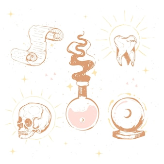 Esoteric elements illustration concept