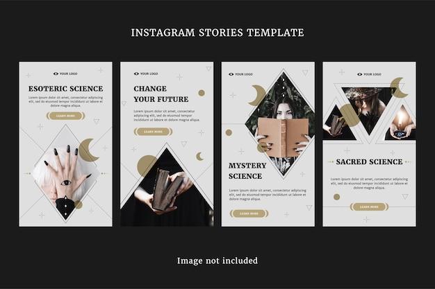 Esoteric instagram stories set