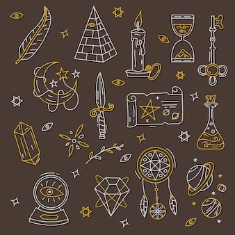 Esoteric mystical elements concept