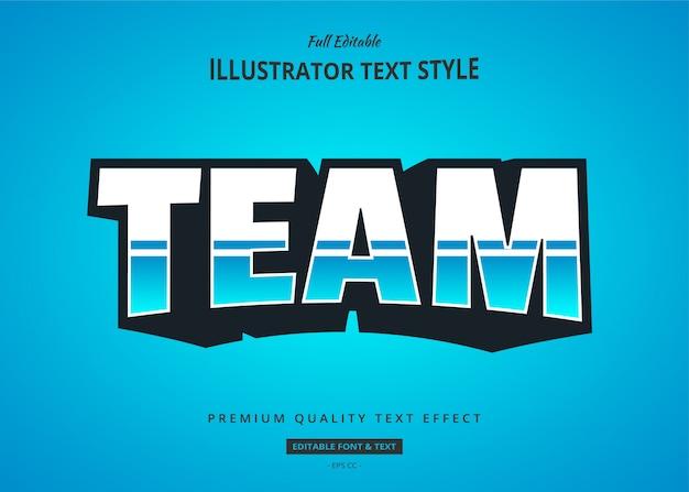 Esport blue 3d text style effect