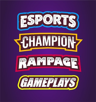 Esport, champion, rampage, gameplays with text effect